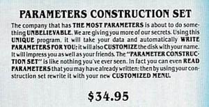 Parameters Construction set (1988)