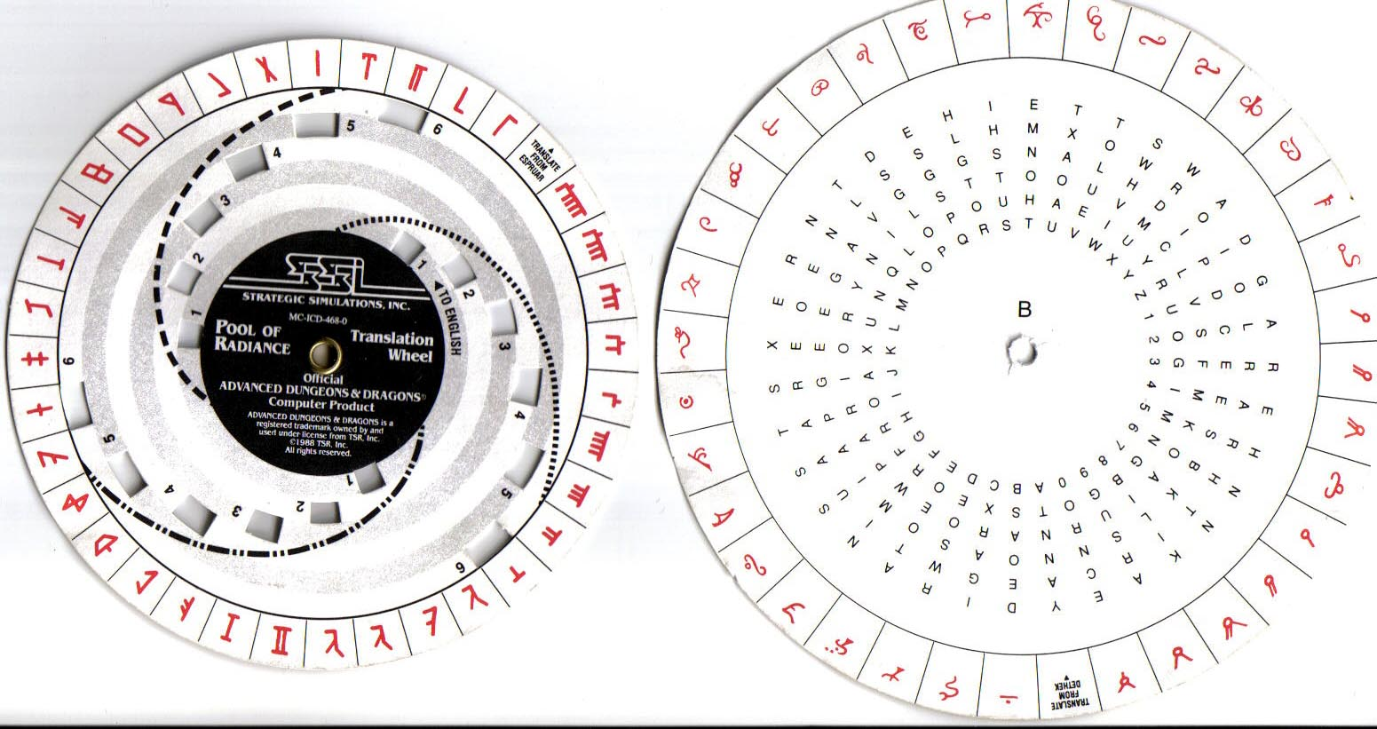 image regarding Printable Decoder Wheel named Code Wheels Sheets Archives - Site 5 of 6 - C64 Replica
