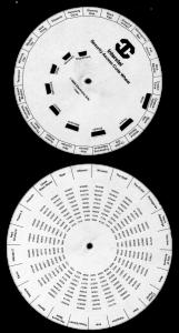 Star Flight Code Wheel B&W